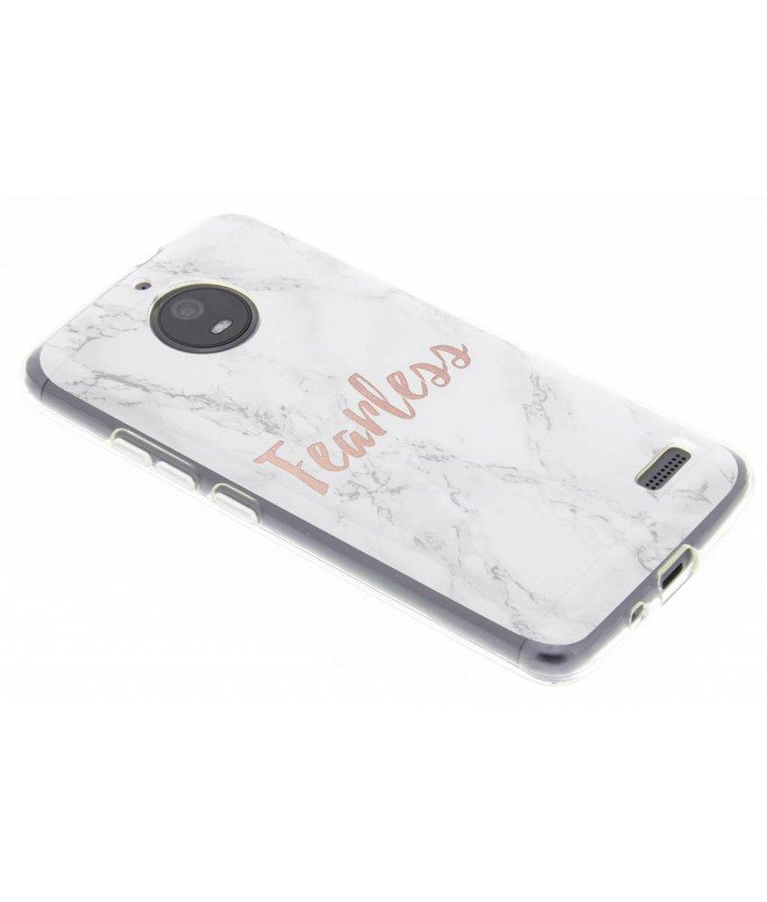 Quote design TPU hoesje Motorola Moto E4