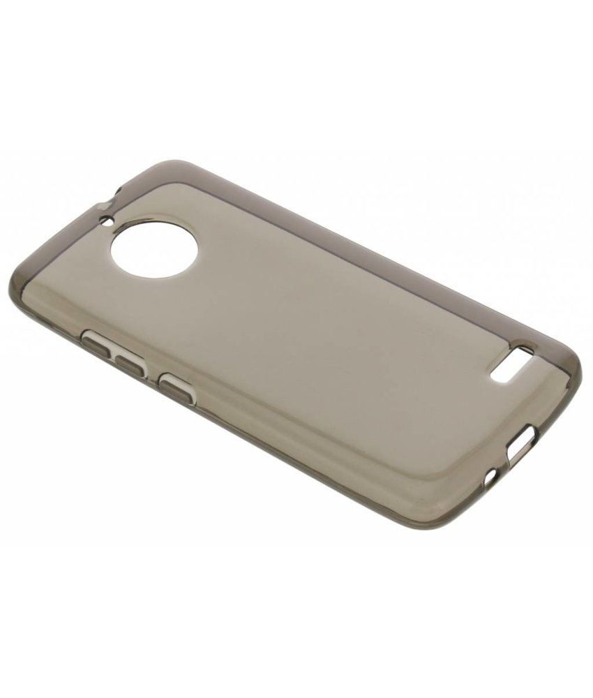 Grijs transparant gel case Motorola Moto E4