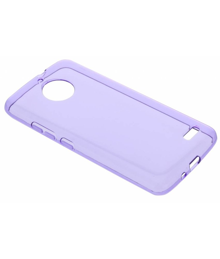 Paars transparant gel case Motorola Moto E4