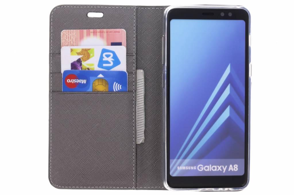 Bleu Saffiano Cas De Type Livre Pour Samsung Galaxy A8 (2018) W9ergno