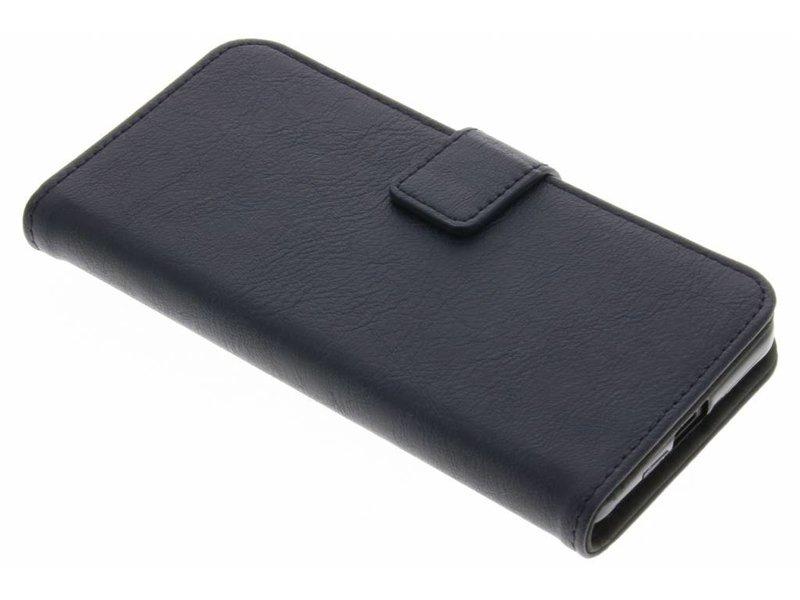 Microsoft Lumia 650 hoesje - Donkerblauwe luxe leder booktype