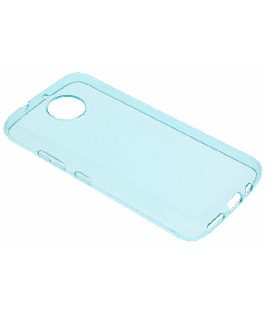 Turquoise transparant gel case Motorola Moto G5S Plus