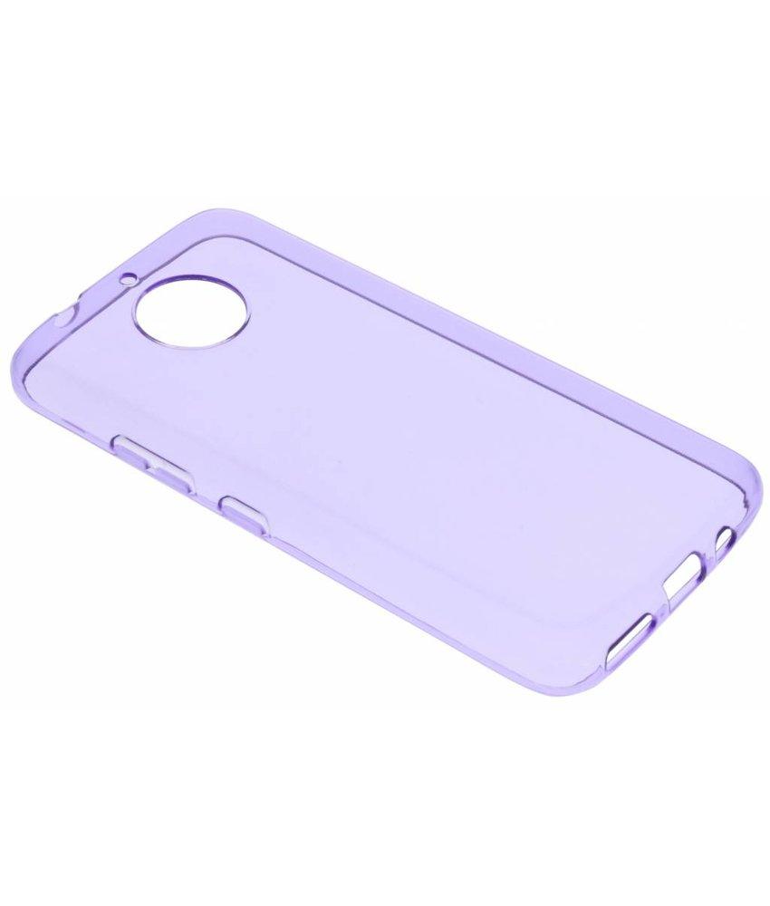 Paars transparant gel case Motorola Moto G5S Plus