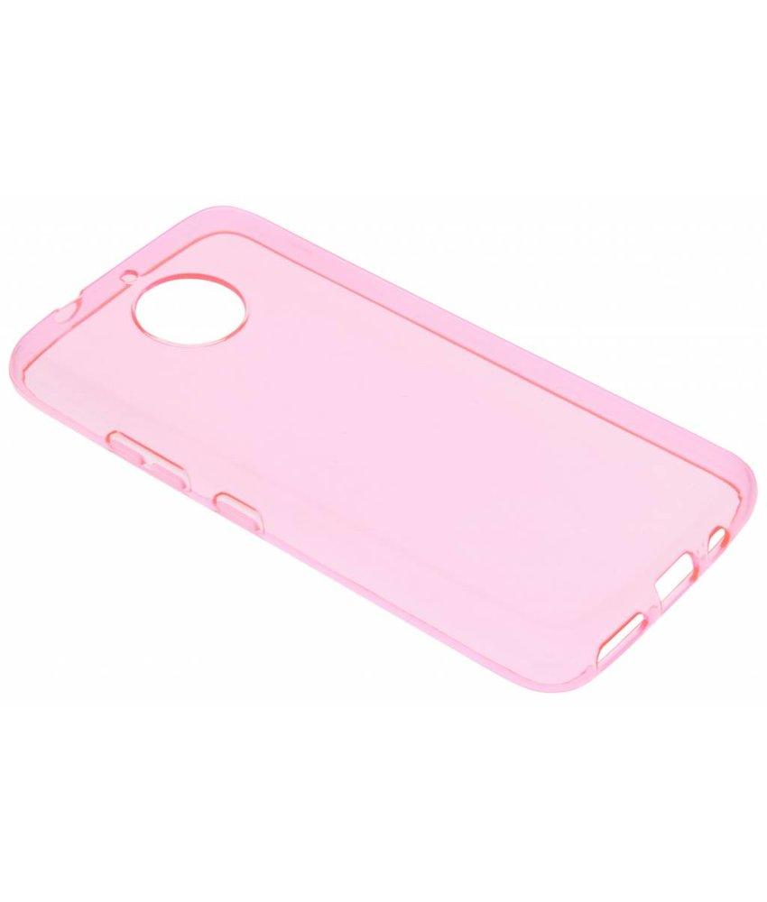 Roze transparant gel case Motorola Moto G5S Plus