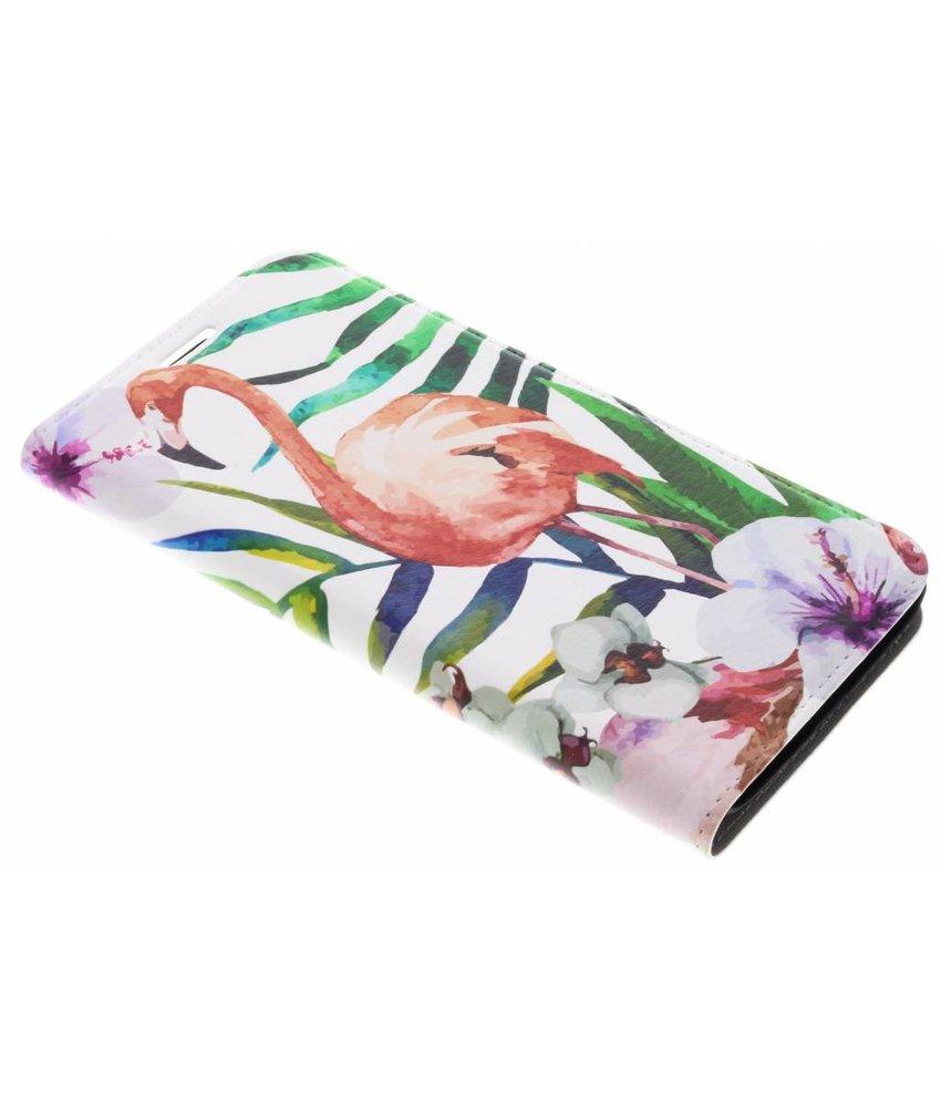 Flamingo Design Booklet Motorola Moto G5S Plus
