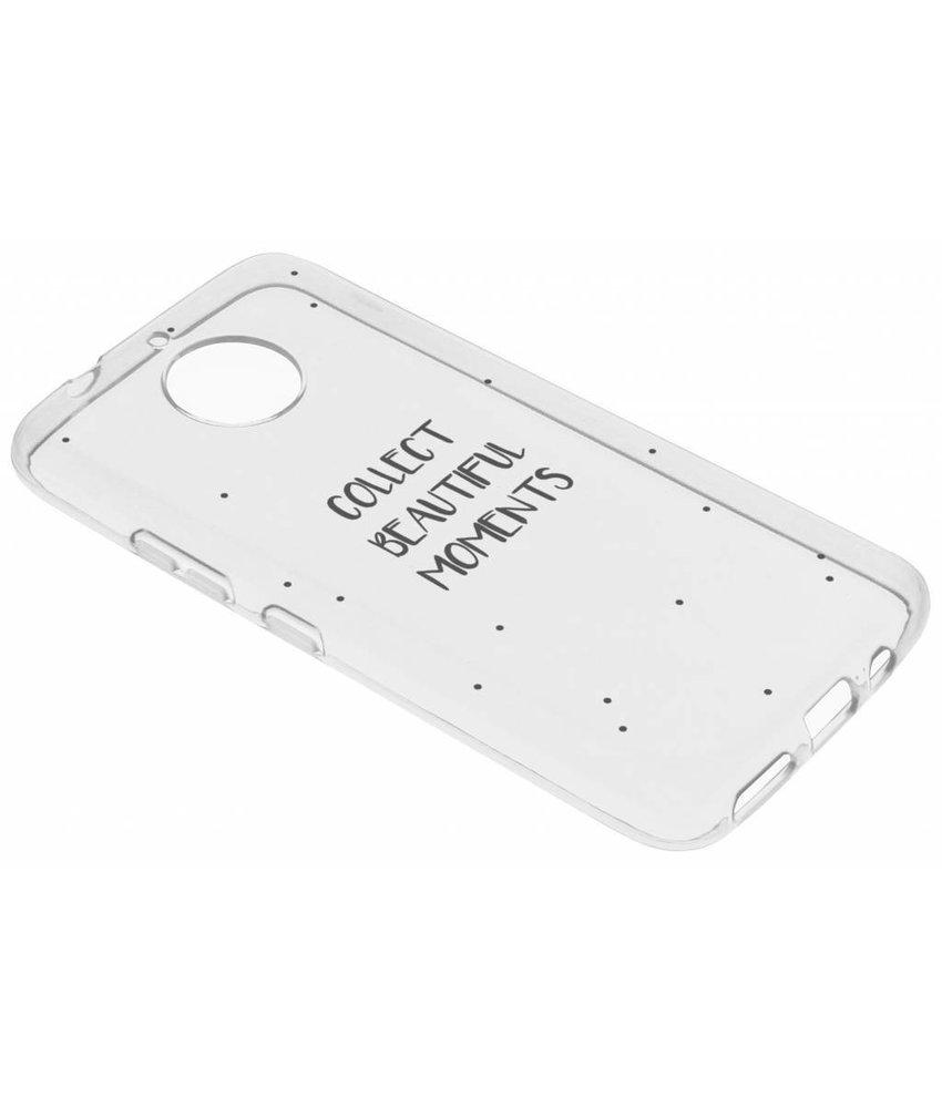 Quote Design TPU hoesje Motorola Moto G5S Plus