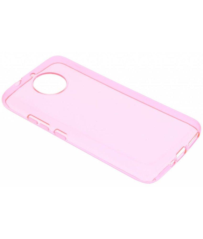Roze transparant gel case Motorola Moto G5S