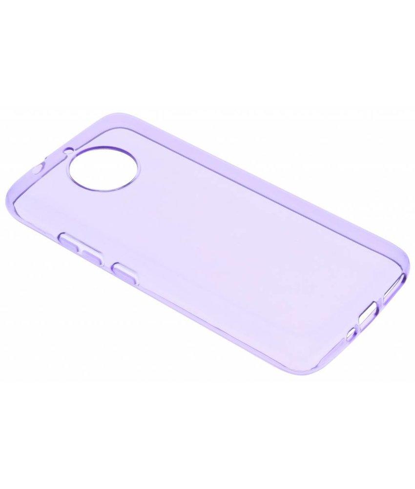 Paars transparant gel case Motorola Moto G5S