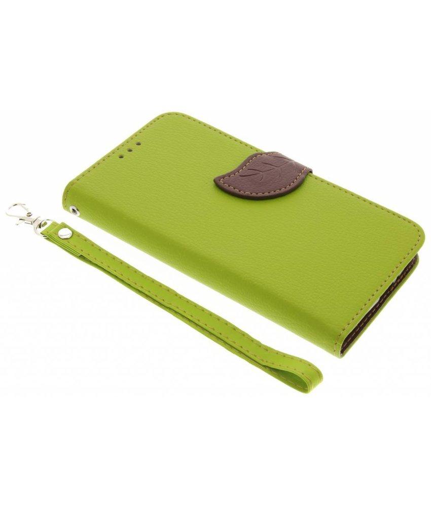 Groen Blad design TPU booktype Motorola Moto G5 Plus
