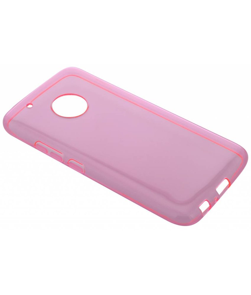 Roze transparant gel case Motorola Moto G5 Plus