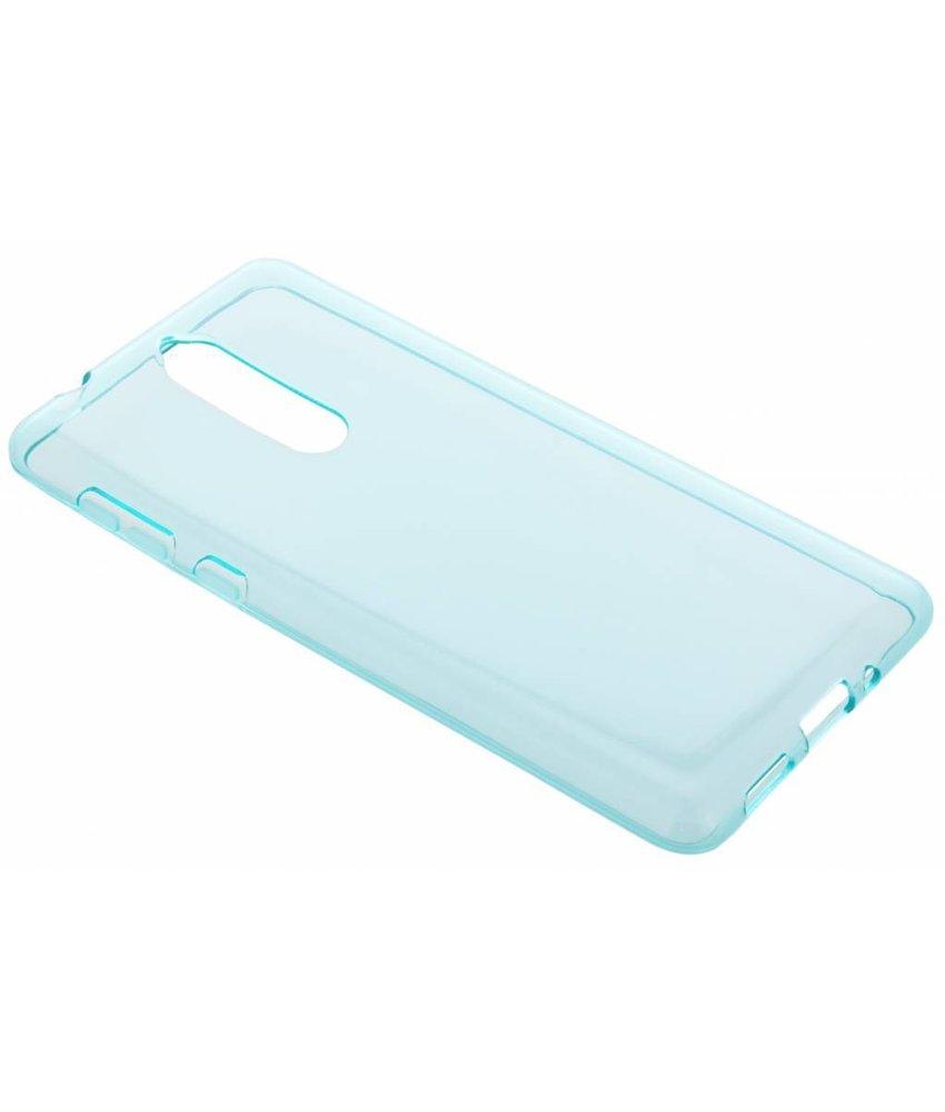 Turquoise transparant gel case Nokia 8