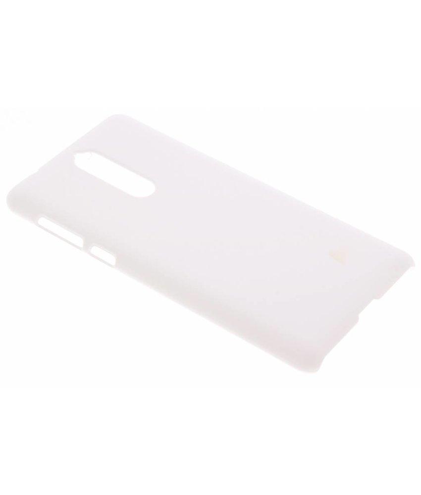 Wit effen hardcase hoesje Nokia 8