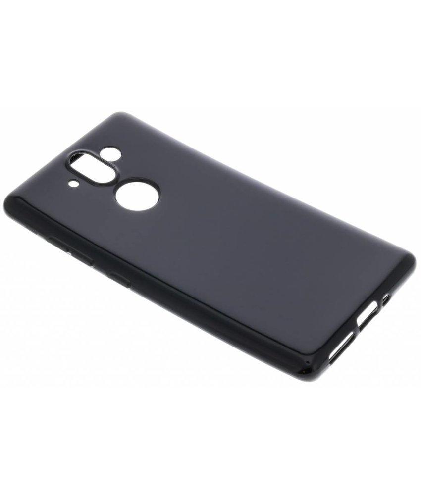 Zwarte gel case Nokia 8 Sirocco