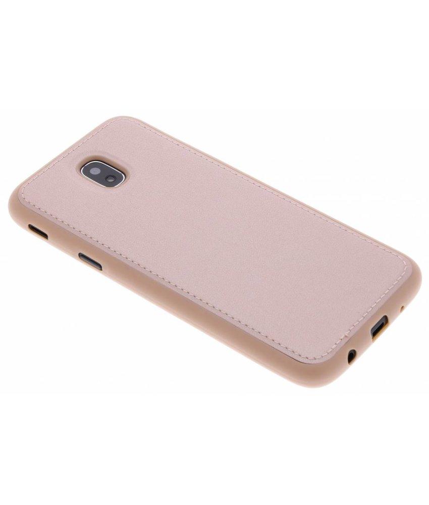 Rosé Goud lederen TPU case Samsung Galaxy J5 (2017)