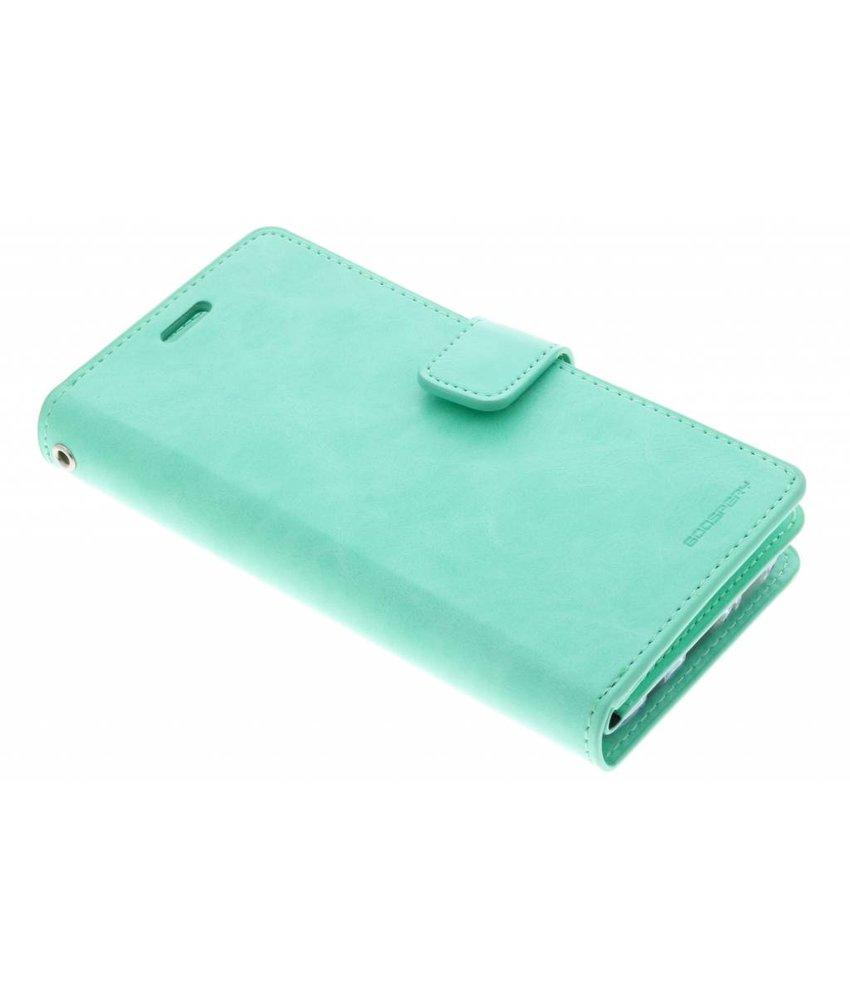 Mercury Goospery Samsung Galaxy S6 Canvas Diary Case Green Mansoor Wallet S9