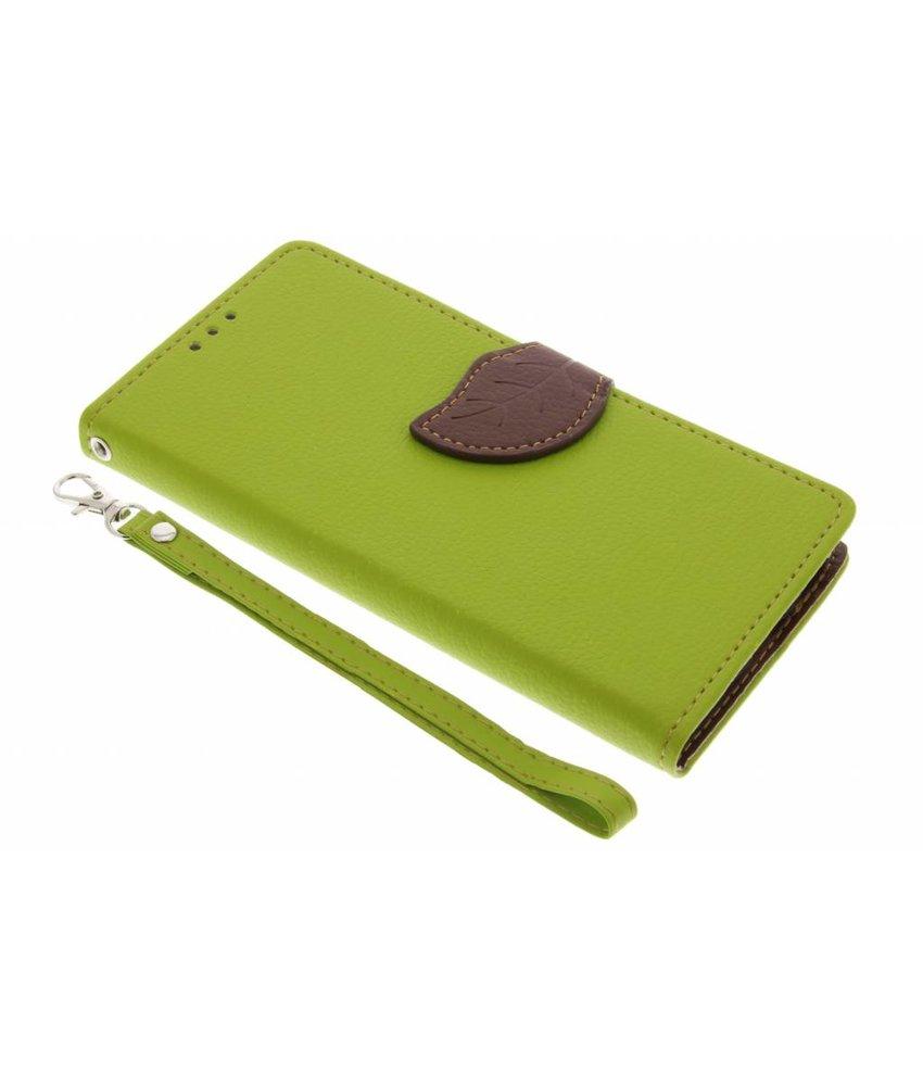 Groen blad design TPU booktype hoes Huawei Y6