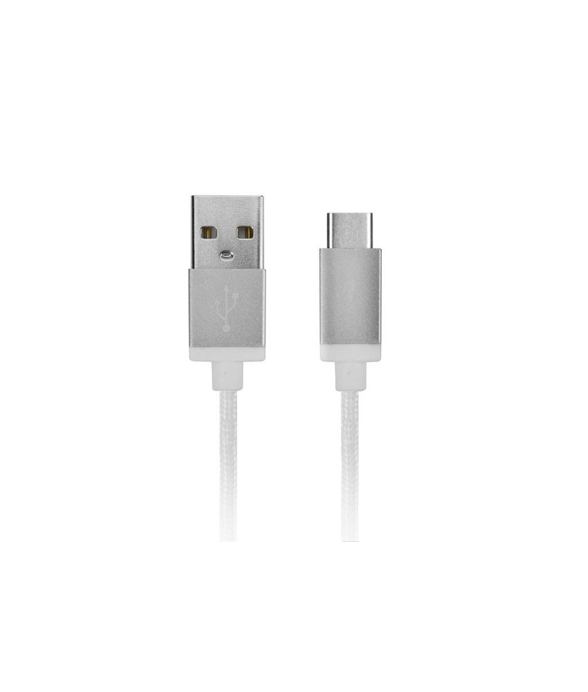 Xqisit Cotton Cable Sync and Charge USB-C naar USB kabel