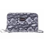 Valenta Donkergrijze Universele Luxury Handbag Snake Glam