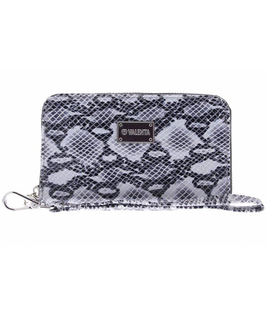 Valenta Donkergrijs Universele Luxury Handbag Snake Glam