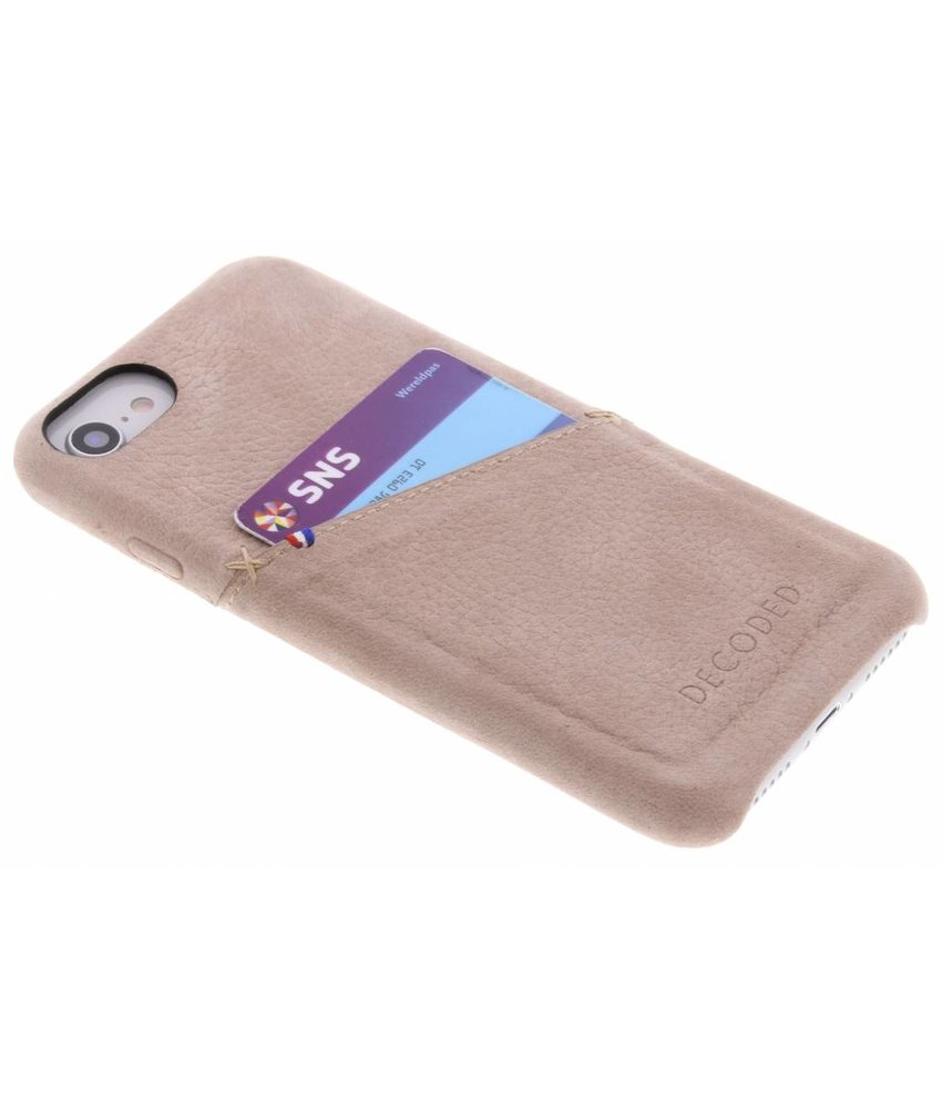 Decoded Lichtbruin Leather Back Cover iPhone 8 / 7 / 6s / 6