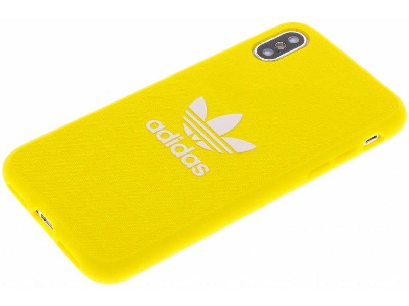 iPhone X hoesje - adidas Originals Gele Adicolor