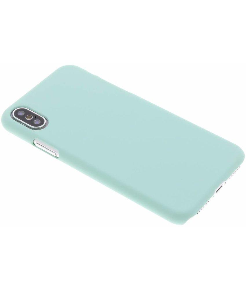 Mintgroen pastel hardcase hoesje iPhone Xs / X