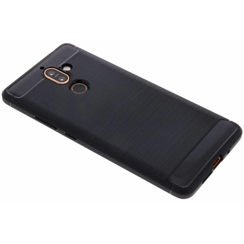 Zwart Brushed TPU case Nokia 7 Plus
