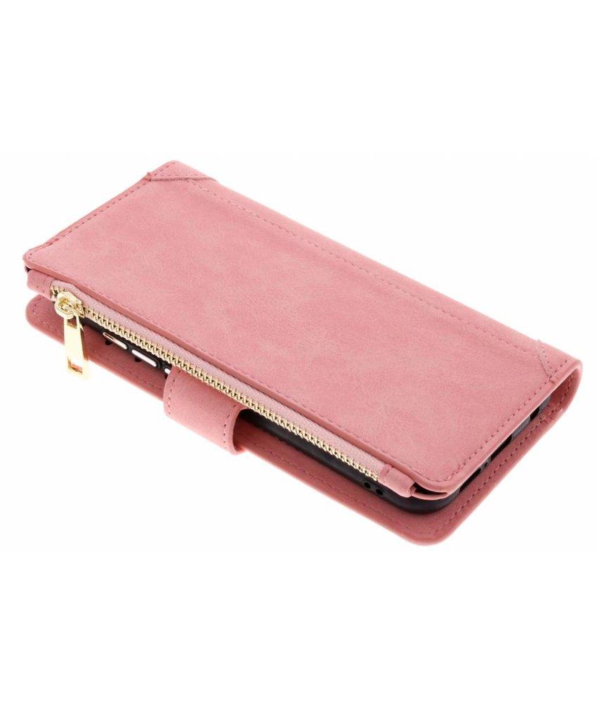 Roze Luxe portemonnee hoes Huawei P20 Lite
