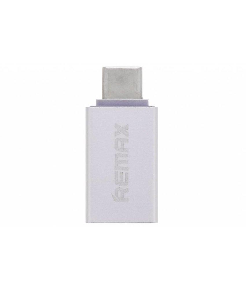 REMAX Zilver USB-C naar USB Adapter