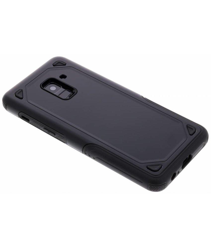 Zwart Rugged hardcase hoesje Samsung Galaxy A8 (2018)