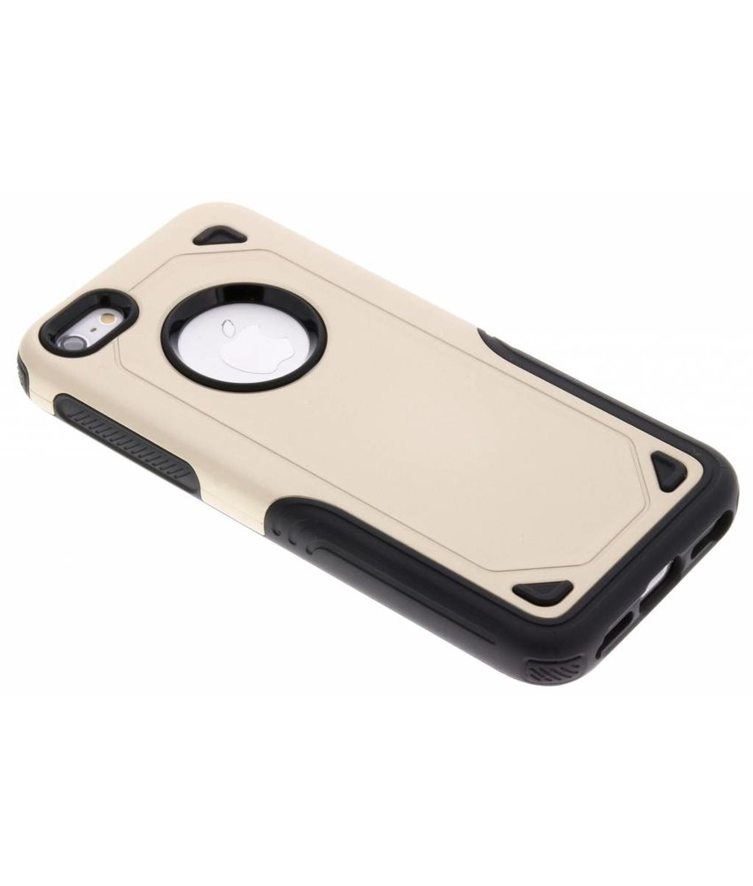 Goud Rugged hardcase hoesje iPhone 5 / 5s / SE
