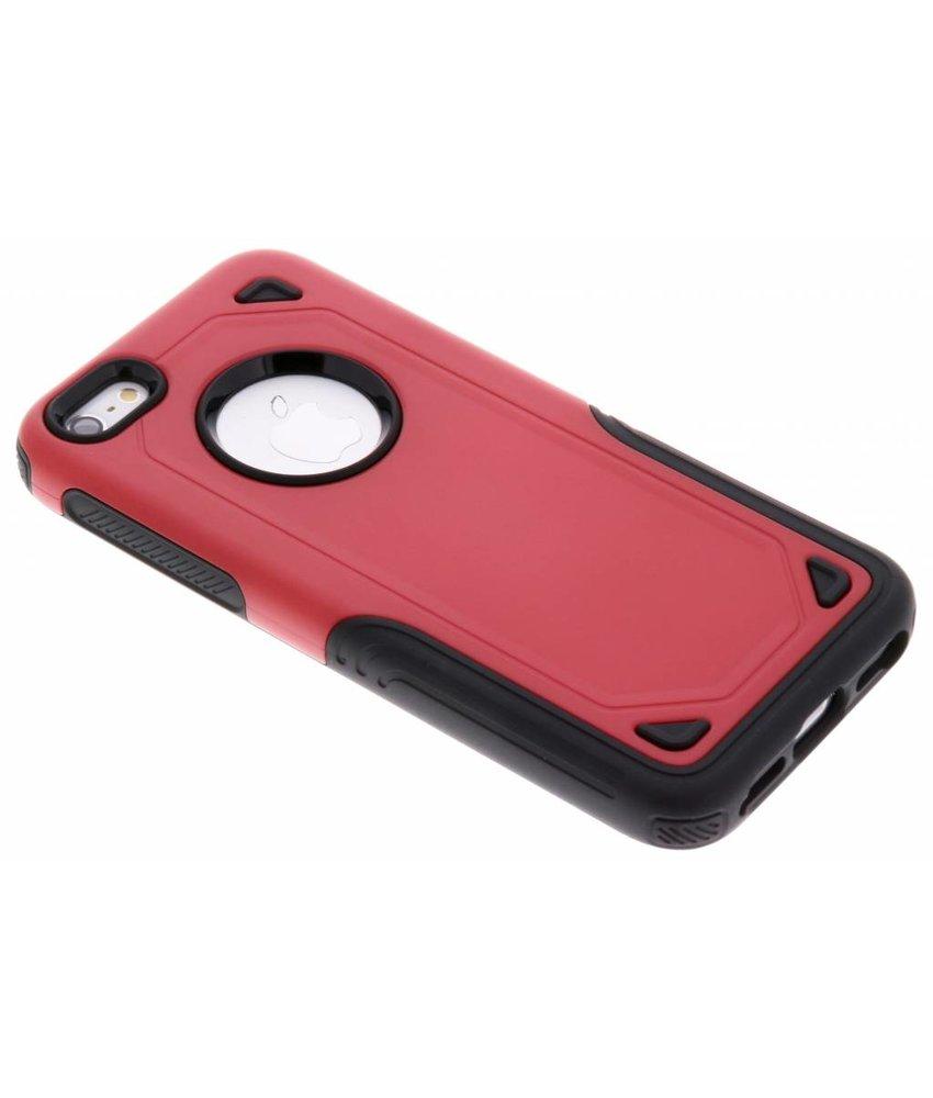 Rood Rugged hardcase hoesje iPhone 5 / 5s / SE