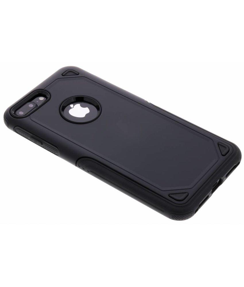 Zwart Rugged hardcase hoesje iPhone 8 Plus / 7 Plus