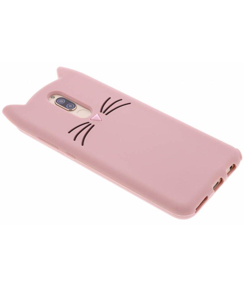 Roze Kat TPU hoesje Huawei Mate 10 Lite