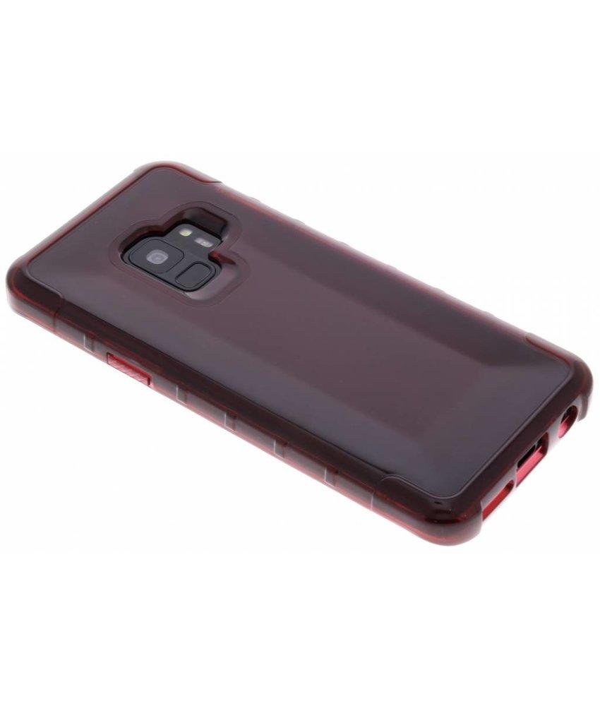 Plaine Rouge Couverture Étui Rigide Pour Samsung Galaxy S9 nVKqE