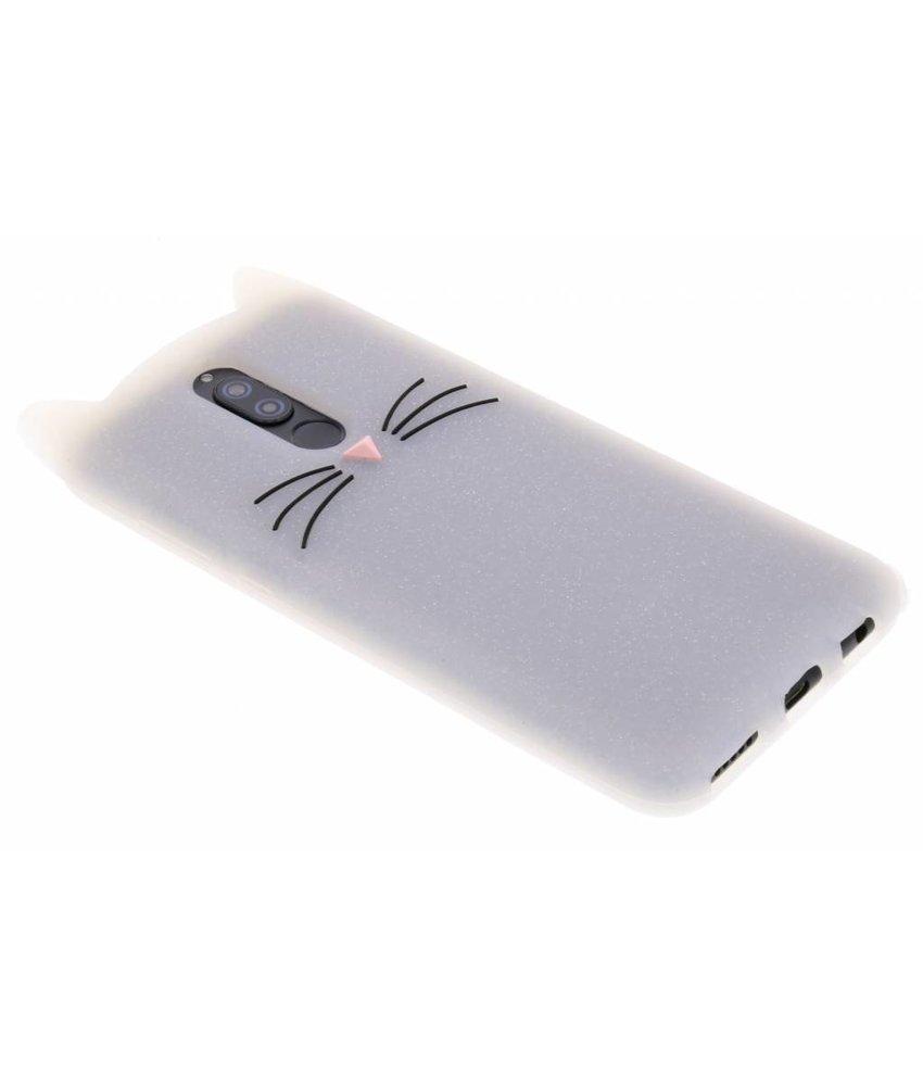 Transparant glitter kat TPU hoesje Huawei Mate 10 Lite