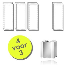 WTW 4 paar Excellent filters voor Brink Renovent