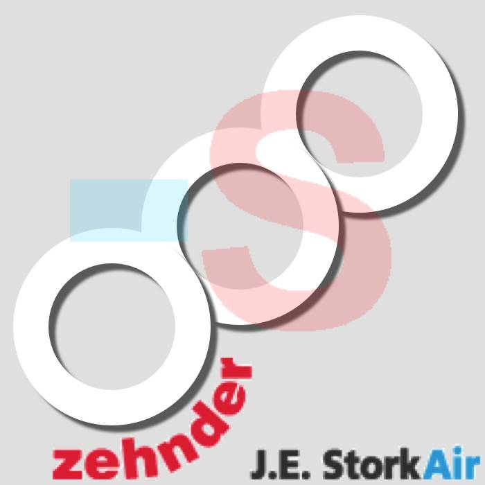 3 Afdichtringen Zehnder tbv STK 100/125 Ventiel