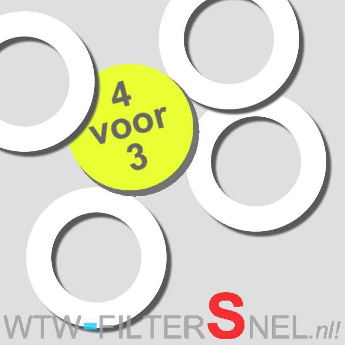 4 Afdichtringen tbv STK 100/125 Ventiel
