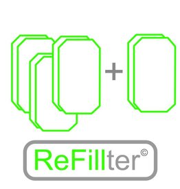 ReFillter© 4 sets HRU-2/3 filters