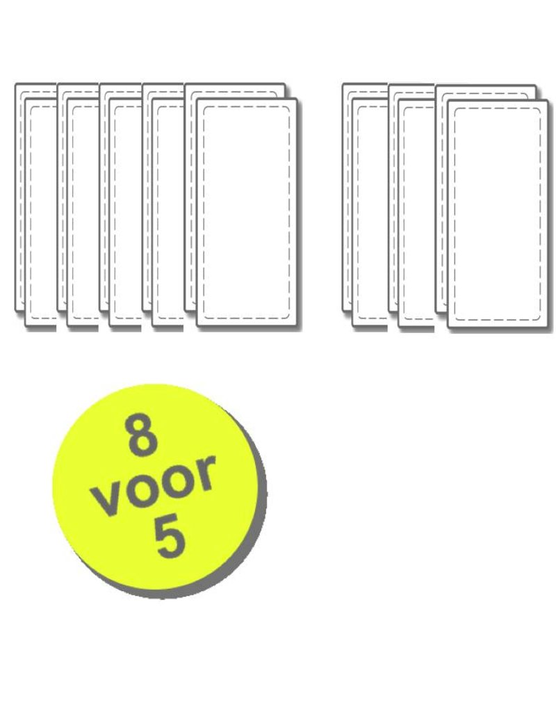 WTW 8 paar filters voor Rucon WTA HR-300/400