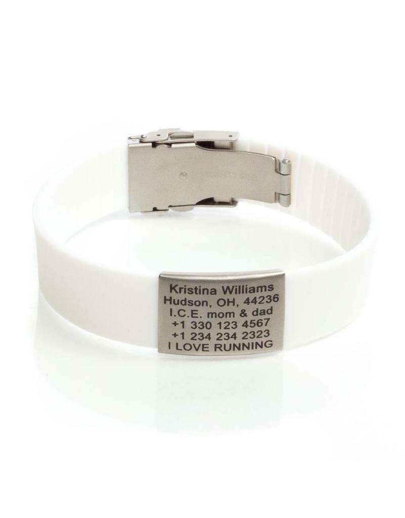 Sport ID bracelet White