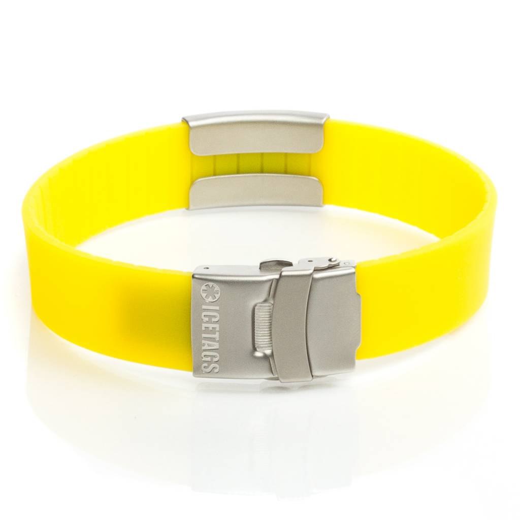 ID armband geel
