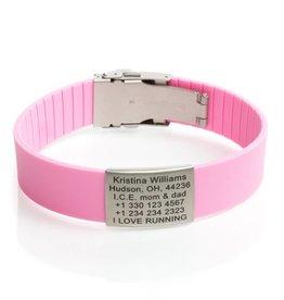Sport ID Bracelet Pink
