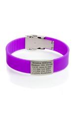 Engraved ID bracelet Purple