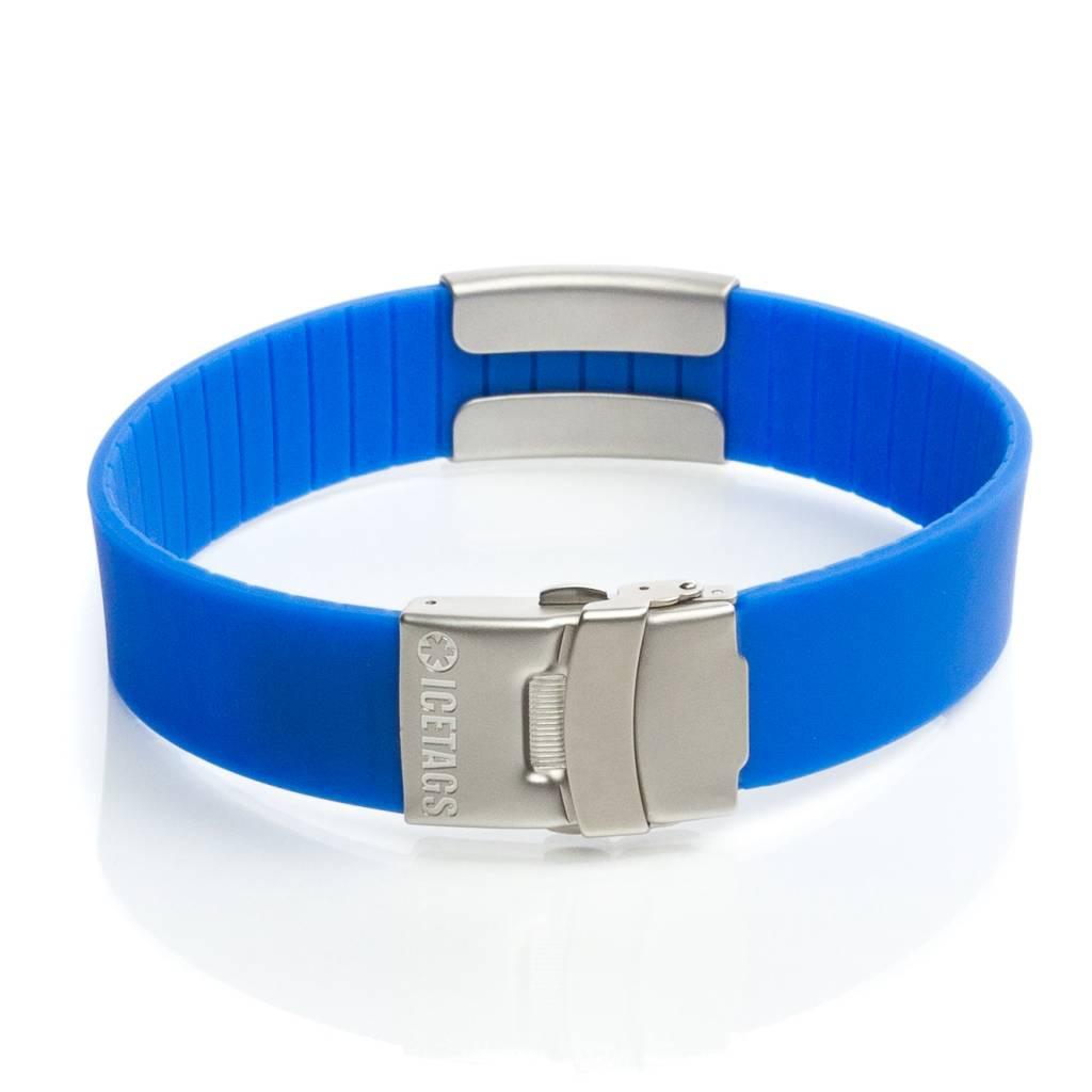 Stylish ID bracelets blue