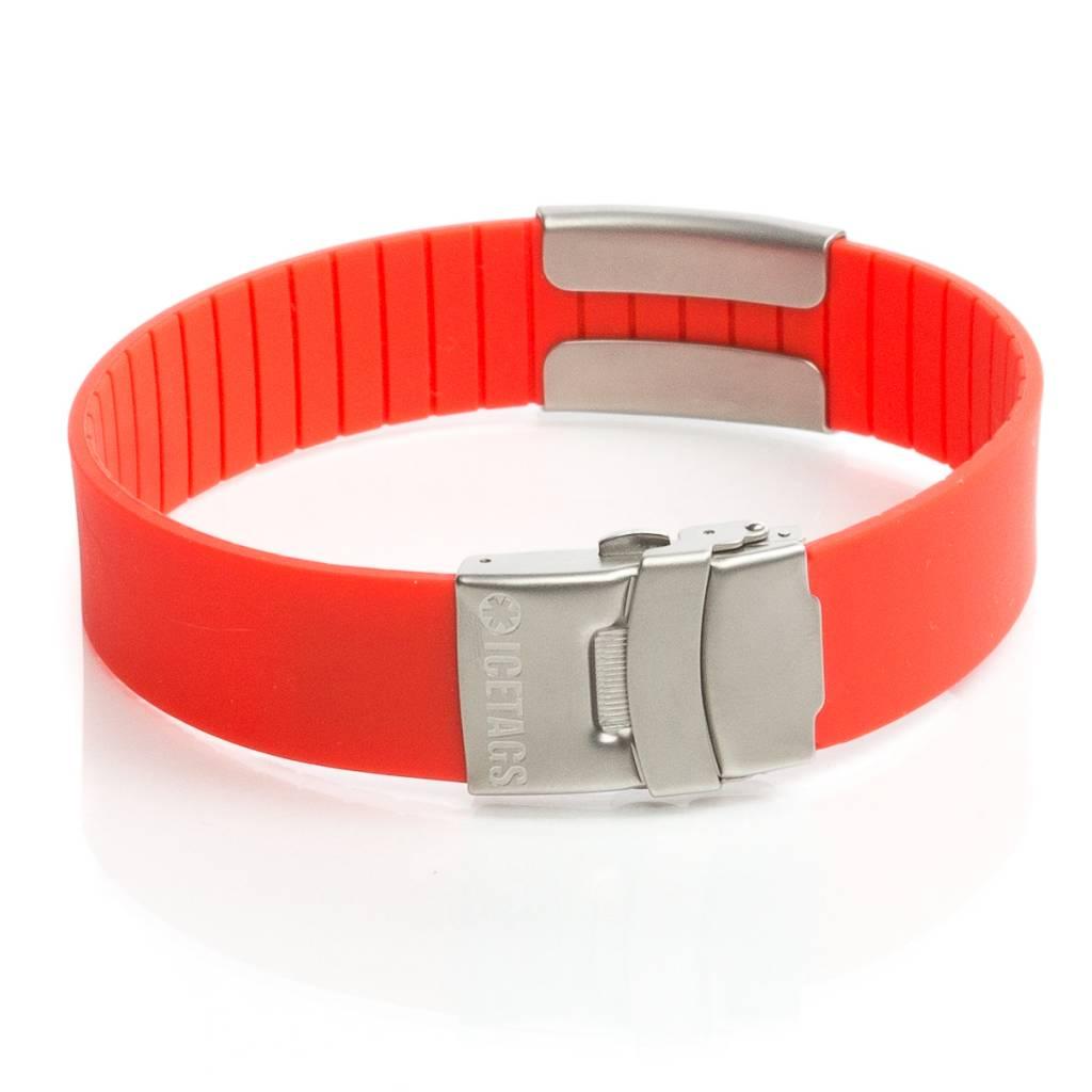ID armband rood