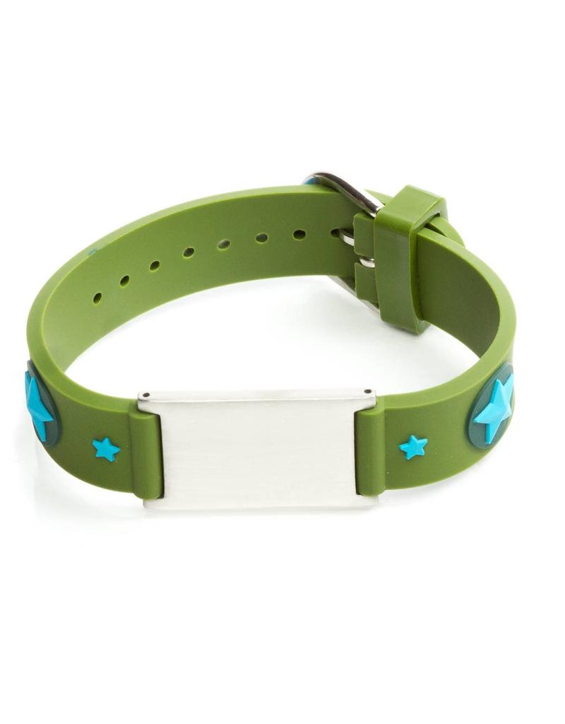 Child safety ID bracelet Stars