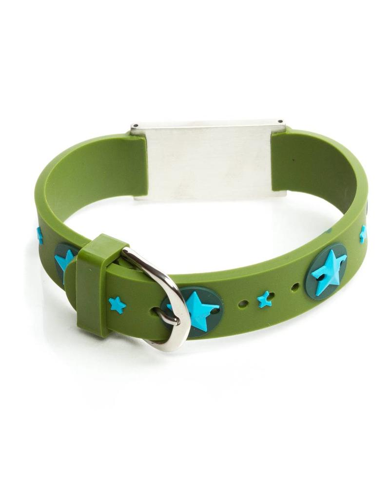 Icetags Child safety ID bracelet Stars