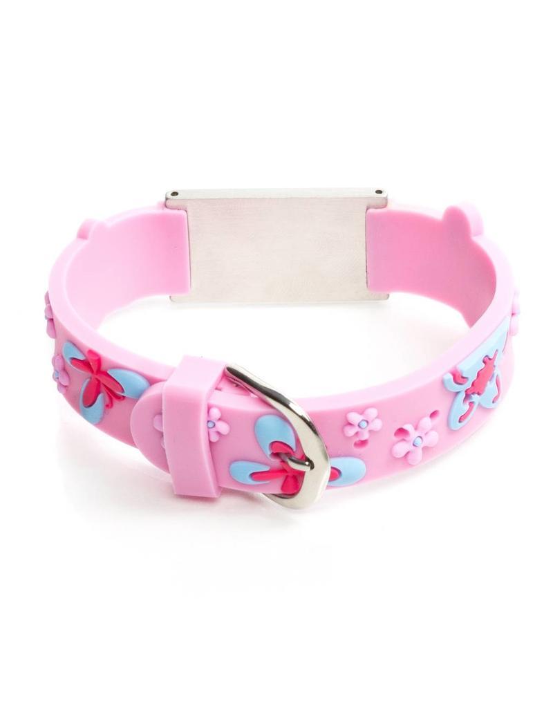 Armband met tekst licht roze